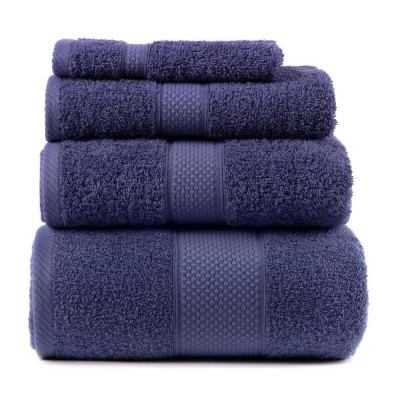 Полотенце махровое Arya однотонное «Miranda Soft» синее