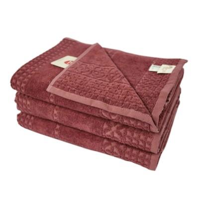 Полотенце бамбуковое Arya «Dina» сухая роза