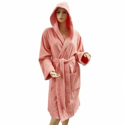 Халат женский с капюшоном Arya «Miranda Soft» коралловый