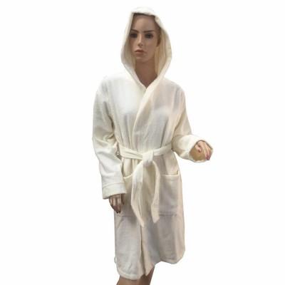 Халат женский с капюшоном Arya «Miranda Soft» экрю