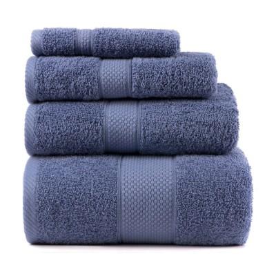 Полотенце махровое Arya однотонное «Miranda Soft» голубое