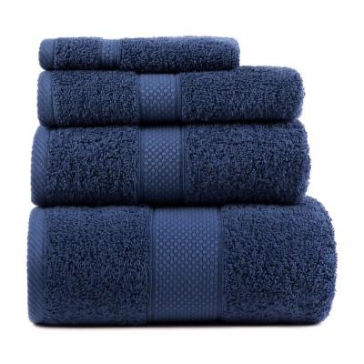 Полотенце махровое Arya однотонное «Miranda Soft» темно-синее