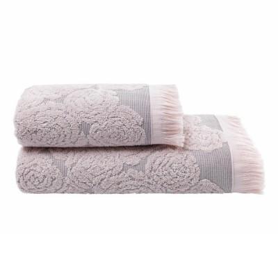 Полотенце жаккардовое Arya «Nadine» розовое