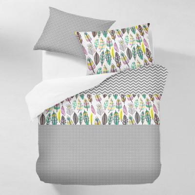 Комплект постельного белья бязь голд «Feather_Grey_1» евро Cosas