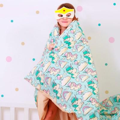 Детский комплект постельного белья бязь голд «Единорог_беж_11» в кроватку Cosas