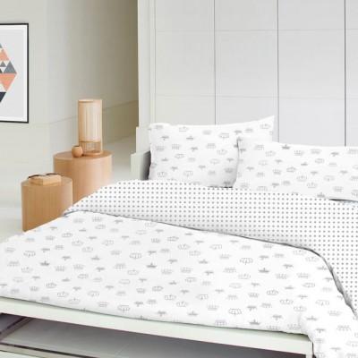 Детский комплект постельного белья бязь голд «Корона_горох_115» в кроватку Cosas