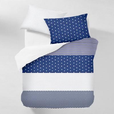 Комплект постельного белья бязь голд «Stars_blue_1» евро Cosas