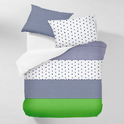 Комплект постельного белья бязь голд «Stars_Blue_Grey_1» евро Cosas