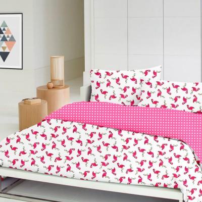 Детский комплект постельного белья бязь голд «Фламинго_малина_3» детский Cosas