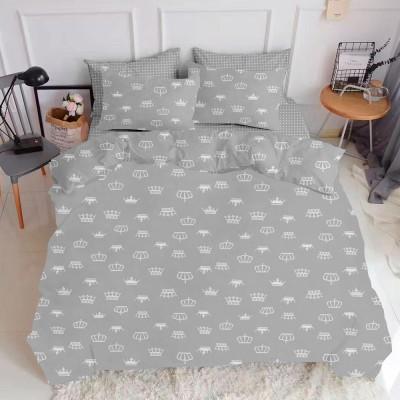 Комплект постельного белья ранфорс «Crown_Grey» Cosas