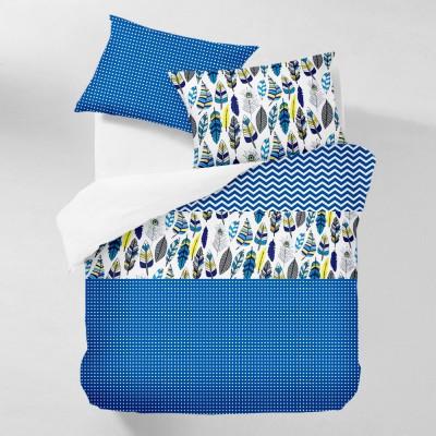 Комплект постельного белья бязь голд «Feather_Blue_1» евро Cosas
