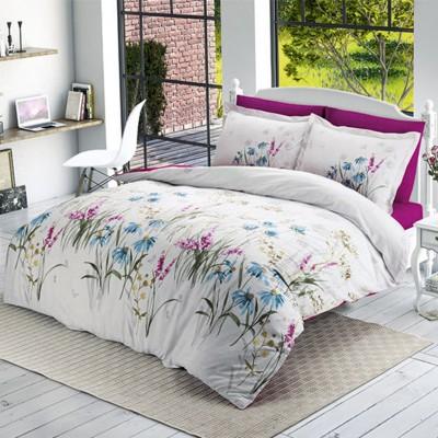 Комплект постельного белья Halley Home ранфорс «Flower-v1»