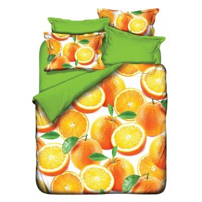 Постельное белье 3D Class бамбук «Orange» евро