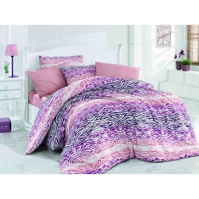 Постельное белье Majoli ранфорс «Gravur-Pink»