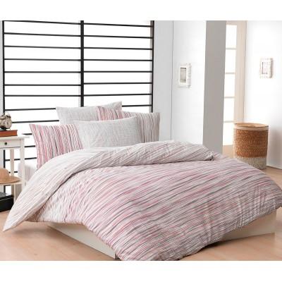 Постельное белье Majoli ранфорс «June-Pink»