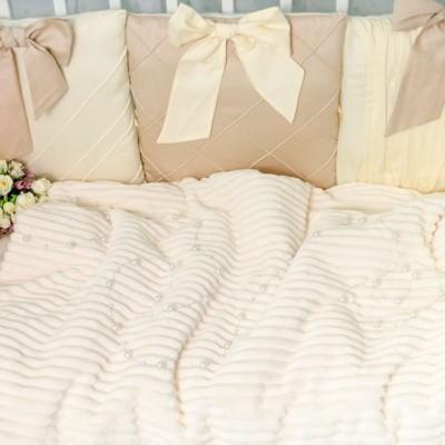 Комплект в кроватку 11 предметов сатин «Шарм» кофе