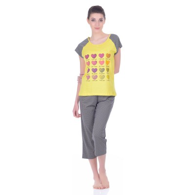 Комплект одежды «I Love You» серый (футболка капри) Miss First