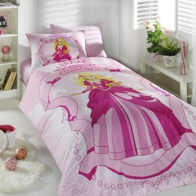 Комплект постельного белья ранфорс «Princess» розовый