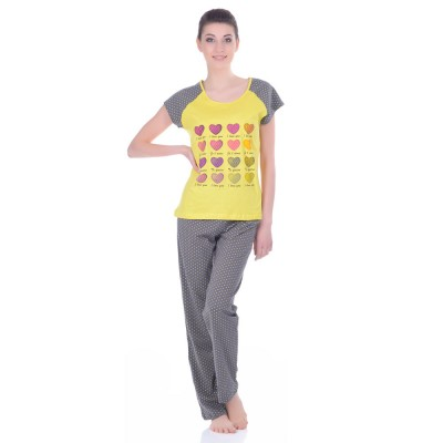 Комплект одежды «I Love You» серый (футболка штаны) Miss First