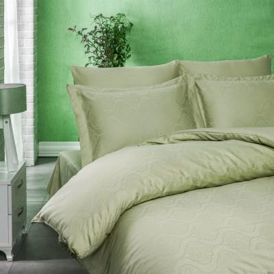 Комплект постельного белья сатин-жаккард «Exclusive» оливковый | Light House