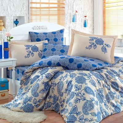 Комплект постельного белья сатин «Antonia» синий Hobby