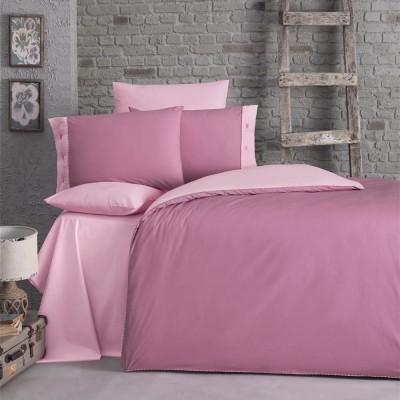 Комплект постельного белья ранфорс «Juliet» розовый Luoca Patisca