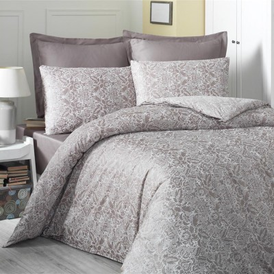 Комплект постельного белья сатин-жаккард «Cappucino» евро | Victoria