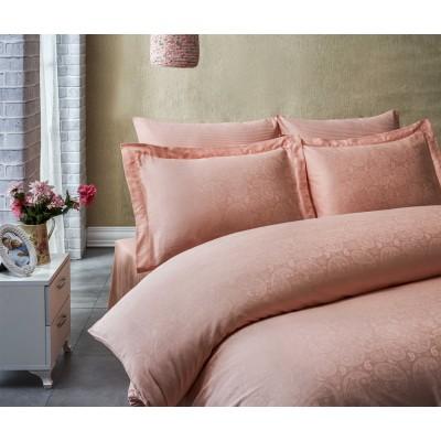 Комплект постельного белья сатин-жаккард «Exclusive» пудра | Light House