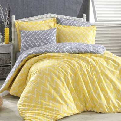 Комплект постельного белья поплин «Nazende» желтый