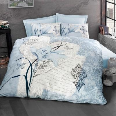 Комплект постельного белья ранфорс «Arte Bella» голуб Luoca Patisca
