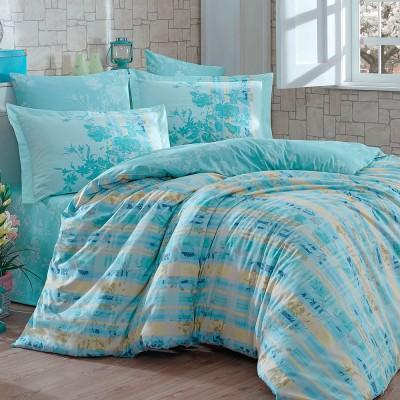 Комплект постельного белья поплин «Elenora» зеленый | Hobby