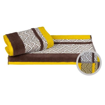 Полотенце «Nazende» желтый/коричневый | Hobby