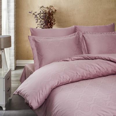 Комплект постельного белья сатин-жаккард «Exclusive» т.розовый | Light House