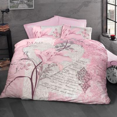 Комплект постельного белья ранфорс «Arte Bella» розовый Luoca Patisca