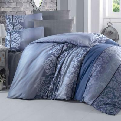 Комплект постельного белья бязь голд «Oyku» евростандарт | синий | Light House