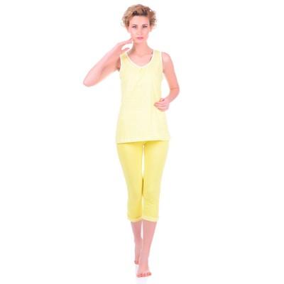 Комплект одежды «Cella» желтый (майка капри) Miss First