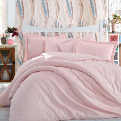Комплект постельного белья сатин-жаккард «Diamond Stripe» пудра | Hobby