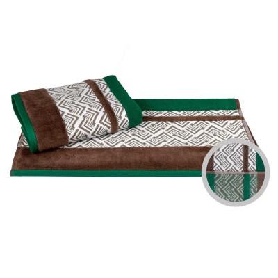 Полотенце «Nazende» зеленый/коричневый | Hobby