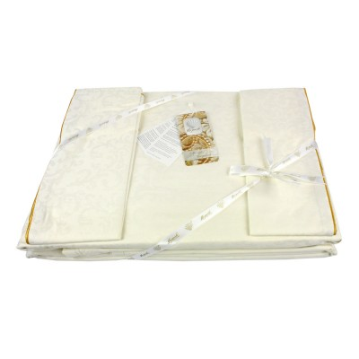 Комплект постельного белья сатин-жаккард «La Perle Sateen» крем La Perle