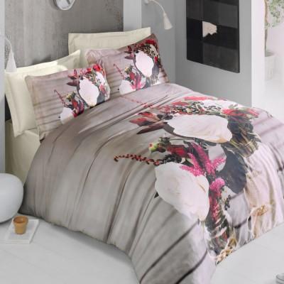 Комплект постельного белья 3D сатин «Beauty» Luoca Patisca