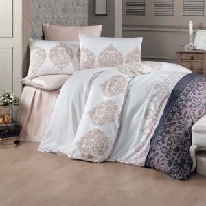 Комплект постельного белья сатин-жаккард «Asrin» евро | Victoria