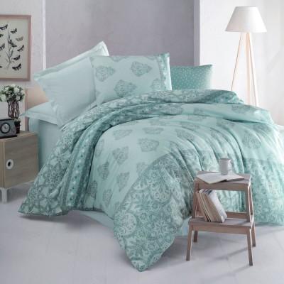 Комплект постельного белья ранфорс «Barbieri» мята | Luoca Patisca