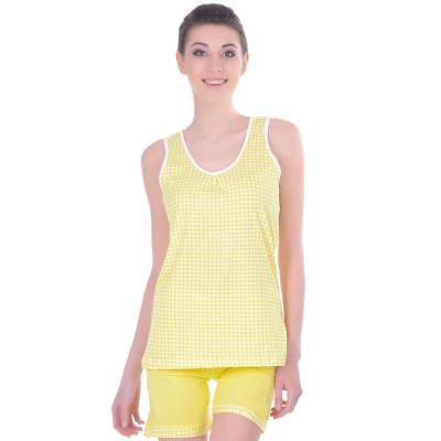 Комплект одежды «Cella» желтый (майка шорты) Miss First