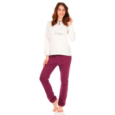 Комплект одежды «Desire» крем-фиолет Jokami