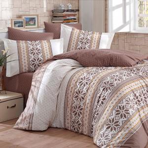 Комплект постельного белья поплин «Carl» корич Hobby