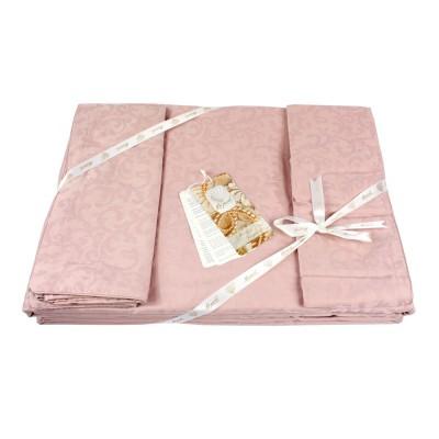 Комплект постельного белья сатин-жаккард «La Perle Sateen» розовый La Perle