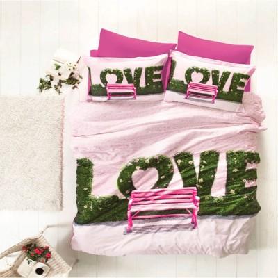 Комплект постельного белья 3D сатин «Love» Luoca Patisca