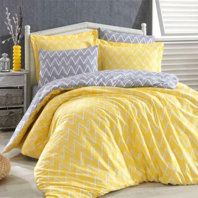 Комплект постельного белья поплин «Nazende» желтый Hobby