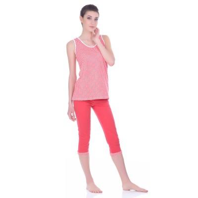 Комплект одежды «Cella» красный (майка капри) Miss First
