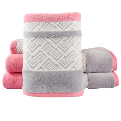 Полотенце «Nazende» розовый/серый | Hobby